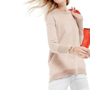 J CREW Merino Cotton Tunic Sweater M-P Ruby Red
